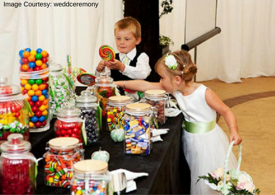 Kids Table in Wedding